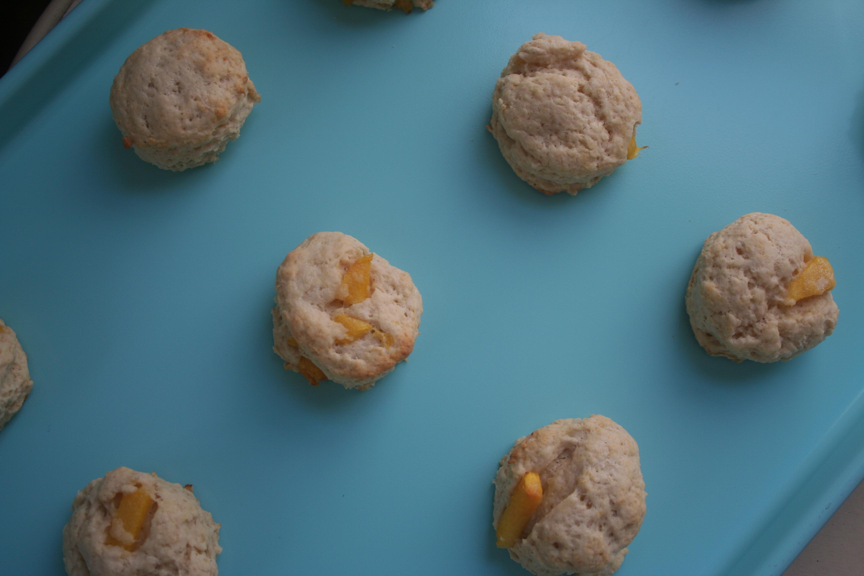 mini peach scones with salted honey glaze | Oh, honey honey