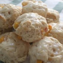 mini peach scones with salted honey glaze