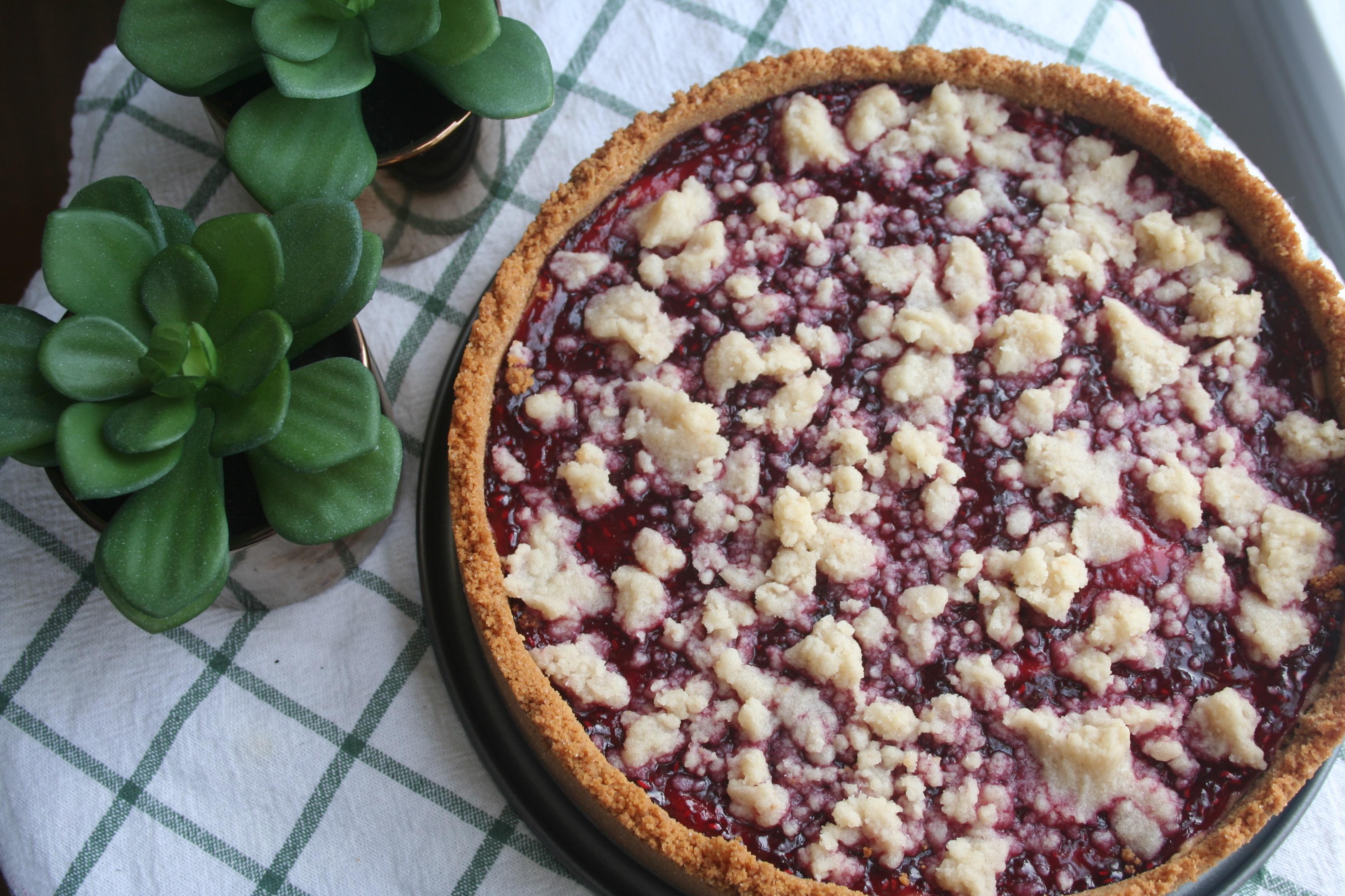 peanut butter raspberry pie