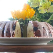 lemon rhubarb bundt cake