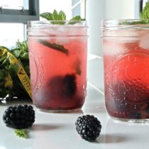 blackberry bourbon lemonade with mint